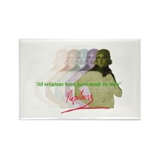 Napoleon quote Rectangle Magnet