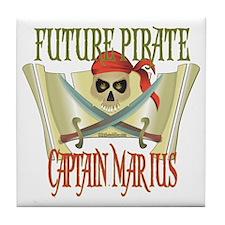 Captain Marius Tile Coaster