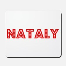 Retro Nataly (Red) Mousepad