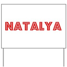 Retro Natalya (Red) Yard Sign