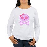 Pink Skull Women's Long Sleeve T-Shirt