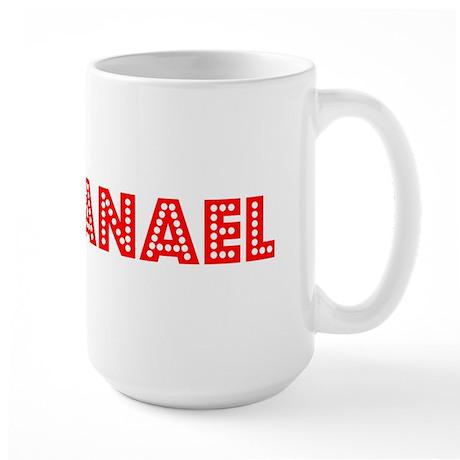 Retro Nathanael (Red) Large Mug