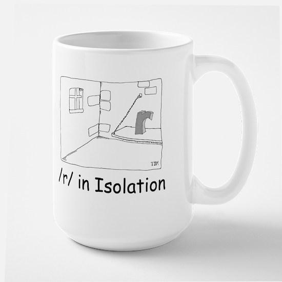R in isolation Large Mug
