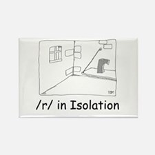 R in isolation Rectangle Magnet