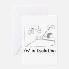 R in isolation Greeting Card