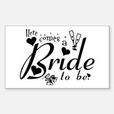 Bride To Be Rectangle Decal