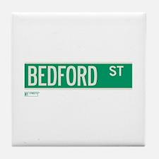 Bedford Street in NY Tile Coaster
