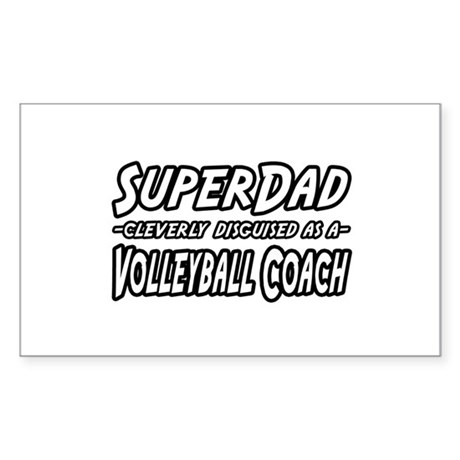 """SuperDad...Volleyball Coach"" Rectangle Sticker"