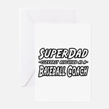 """SuperDad...Baseball Coach"" Greeting Cards (Pk of"
