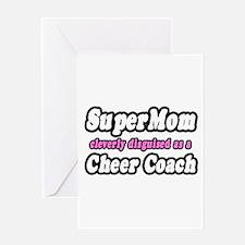 """SuperMom...Cheer Coach"" Greeting Card"