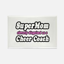 """SuperMom...Cheer Coach"" Rectangle Magnet"