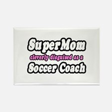 """SuperMom...Soccer Coach"" Rectangle Magnet"