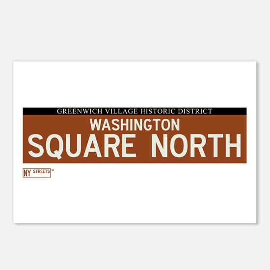 Washington Square North in NY Postcards (Package o