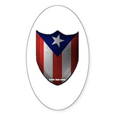 Puerto Rican Shield Oval Decal