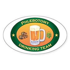 Phlebotomy Team Oval Decal