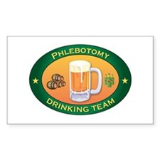 Phlebotomy Team Rectangle Decal