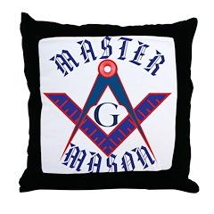 The Master Masons Throw Pillow