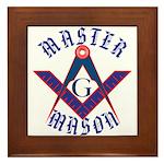 The Master Masons Framed Tile