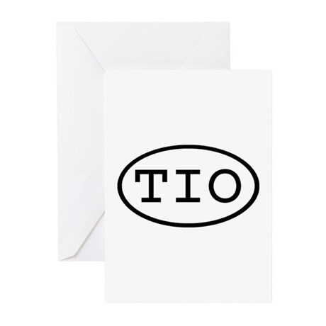 TIO Oval Greeting Cards (Pk of 10)
