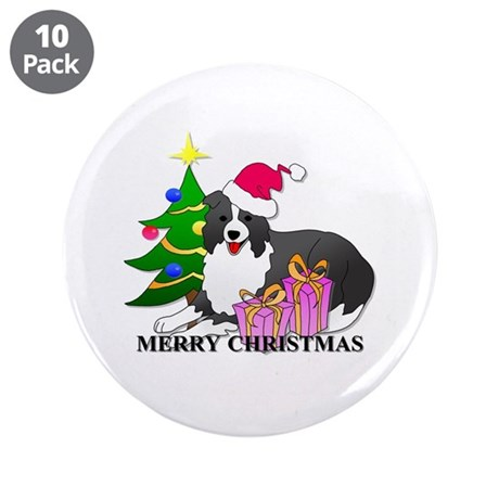 """Border Collie 3.5"""" Button (10 pack)"""