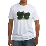 Black Frizzle Cochins Fitted T-Shirt