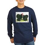 Black Frizzle Cochins Long Sleeve Dark T-Shirt