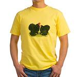 Black Frizzle Cochins Yellow T-Shirt