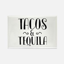Tacos And Tequila Rectangle Magnet