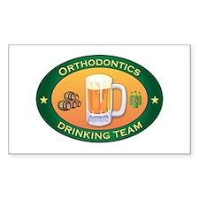 Orthodontics Team Rectangle Decal