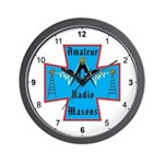 Amateur Radio Masons Wall Clock
