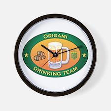Origami Team Wall Clock