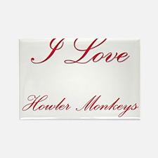 I Love Howler Monkeys Rectangle Magnet