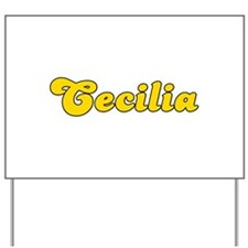 Retro Cecilia (Gold) Yard Sign