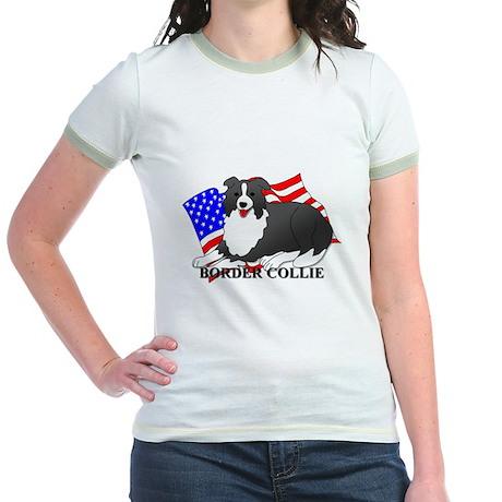 Border Collie USA Jr. Ringer T-Shirt