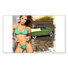 56 Chevy Girl Rectangle Decal