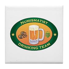 Numismatist Team Tile Coaster