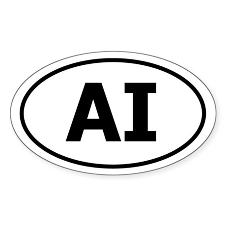 AI (American Indian) Oval Sticker