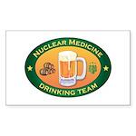 Nuclear Medicine Team Rectangle Sticker 10 pk)