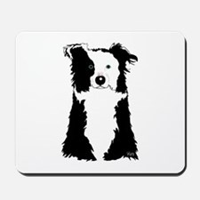 White Border Collie Mousepad