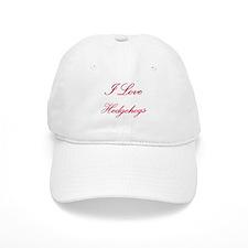 I Love Hedgehogs Cap