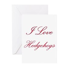 I Love Hedgehogs Greeting Cards (Pk of 10)