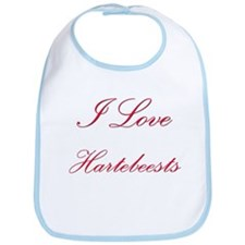 I Love Hartebeests Bib