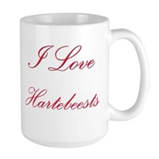 I Love Hartebeests Large Mug