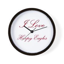 I Love Harpy Eagles Wall Clock