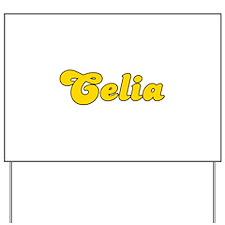 Retro Celia (Gold) Yard Sign