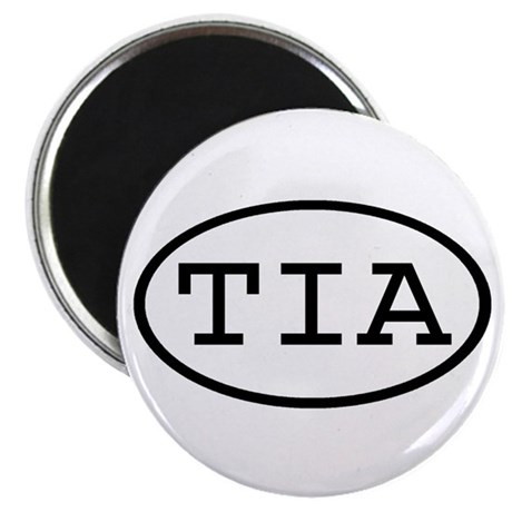 "TIA Oval 2.25"" Magnet (100 pack)"