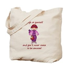 Red Hat Society (GreyHair-scarf) Tote Bag