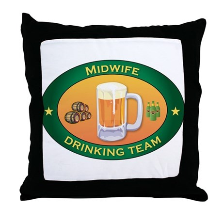Midwife Team Throw Pillow