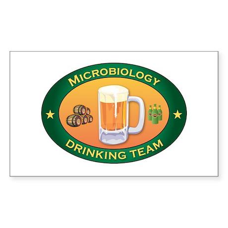 Microbiology Team Rectangle Sticker