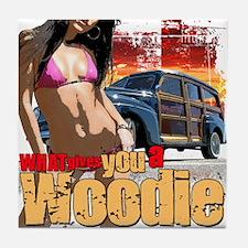 Woodie Girl Tile Coaster